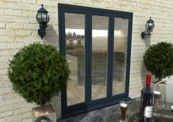 1800mm Grey Aluminium Bifold Door - CLIMADOOR: 70mm Thermally Broken, Double Glazed Door Set Image