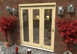 1800mm ( 6ft ) Tradesman Bifold Doors: External 44mm Un-Finished Treated Clear Pine Folding Door Image