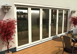 CLIMADOOR Classic White Bi Fold Door 4800mm: 54mm fully finished external bifold doorset Image