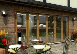 CLIMADOOR Solid Oak Bifold Door 4200mm (14ft) : 54mm Fully Finished Doorset Image