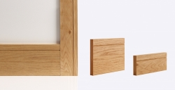 Shaker Architrave 80mm X 16mm (set Covers Both Sides Of The Door): Solid FSC certified finger jointed oak core Image