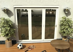 CLIMADOOR Classic White Bi Fold Door 2400mm: 54mm fully finished external bifold doorset Image