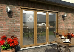 CLIMADOOR Solid Oak Bifold Door 2400mm (8ft) : 54mm Fully Finished Doorset Image
