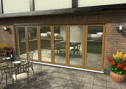 CLIMADOOR Solid Oak Bifold Door 4800mm (16ft) : 54mm Fully Finished Doorset Image
