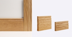Georgian Architrave 90mm X 16mm (set Covers Both Sides Of The Door): Solid FSC certified finger jointed oak core Image