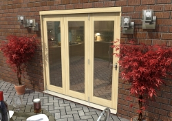 2400mm ( 8ft ) Tradesmen Bifold Doors: External 44mm Un-Finished Treated Clear Pine Folding Door Image