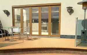 CLIMADOOR Solid Oak Bifold Door 3600mm (12ft) : 54mm Fully Finished Doorset Image