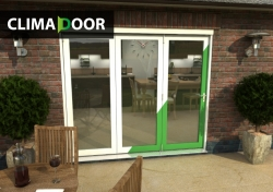 CLIMADOOR Select 2400mm (8ft) Folding Door: 54mm White primed finish External Doorset Image