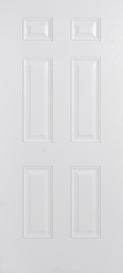 Colonial 6P White Composite Door Image