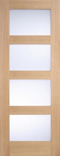 Contemporary 4L Oak Frosted Glass Image