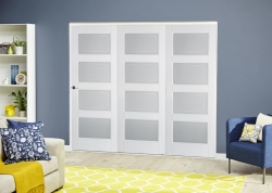 Contemporary White 4L Roomfold Deluxe: Internal Folding door system Image