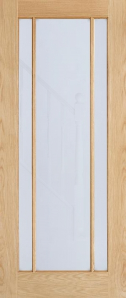 Lincoln Frosted Glazed Oak Door Image