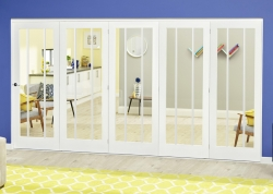 Lincoln White Primed Roomfold Deluxe: Internal Folding door Image