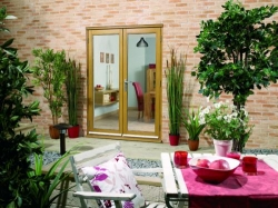 LPD NuVu 1500mm (5ft) Oak French Doors: 44mm Unfinished French Doorset Image