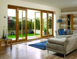 LPD NuVu 4800mm (16ft) Oak Bifold Doors: 44mm Fully Finished Doorset Image