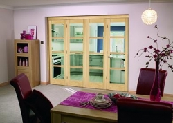 Oslo Roomfold Deluxe - Prefinished: Prefinished Internal Folding Door Image