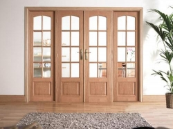 Traditional Oak Room Divider Range: Internal French doors with sidelight options Image