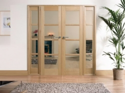 Oak Oslo W6: Internal French doors with sidelight options Image