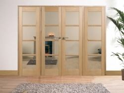 Oak Oslo W8: Internal French doors with sidelight options Image