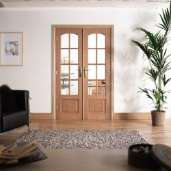 W4 Hardwood Room Divider: Interior French door system Image