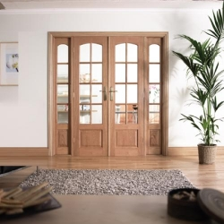 W6 Hardwood Room Divider: Interior French door system Image
