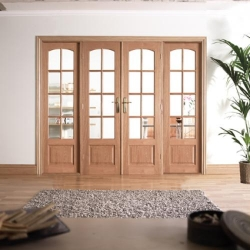 W8 Hardwood Room Divider: Interior French door system Image