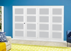 White 4L Frosted Roomfold Deluxe ( 4 X 762mm Doors ): White primed Interior folding doors Image