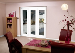 White Bifold 3 Door System (1800mm - 6ft) Set: Interior Folding Door Image