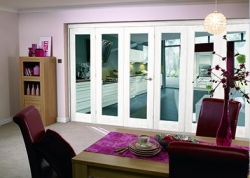 White Bifold 6 Door System (3 + 3 X 2