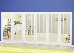 White Lincoln Roomfold Deluxe ( 3 + 3 X 610mm Doors): Internal Folding door Image