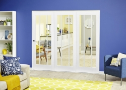 White Lincoln Roomfold Deluxe ( 3 X 686mm Doors): Internal Folding door Image