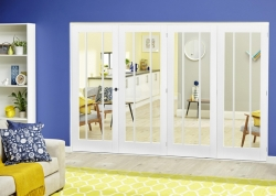 White Lincoln Roomfold Deluxe ( 4 X 610mm Doors): Internal Folding door Image