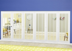 White Lincoln Roomfold Deluxe ( 5 + 1 X 686mm Doors): Internal Folding door Image