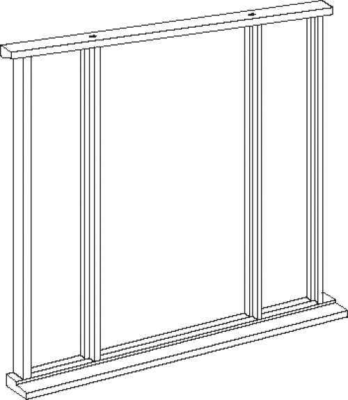 Hardwood front entrance frame for sidelights vestibule for External doors and frames