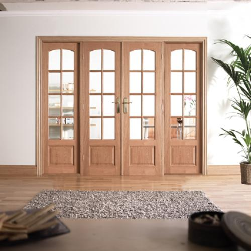 2478x2031mm W8 Hardwood Room Divider Interior French Door System