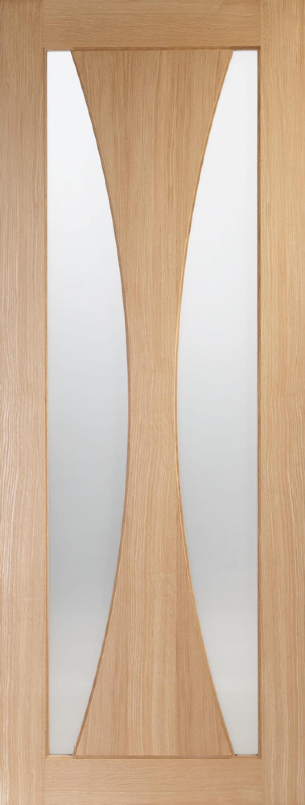 Verona Oak Glazed Door - Obscure