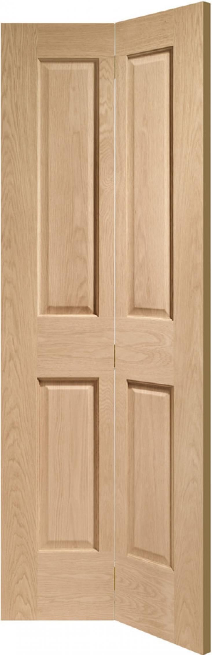Victorian Oak 4 Panel Bifold Door