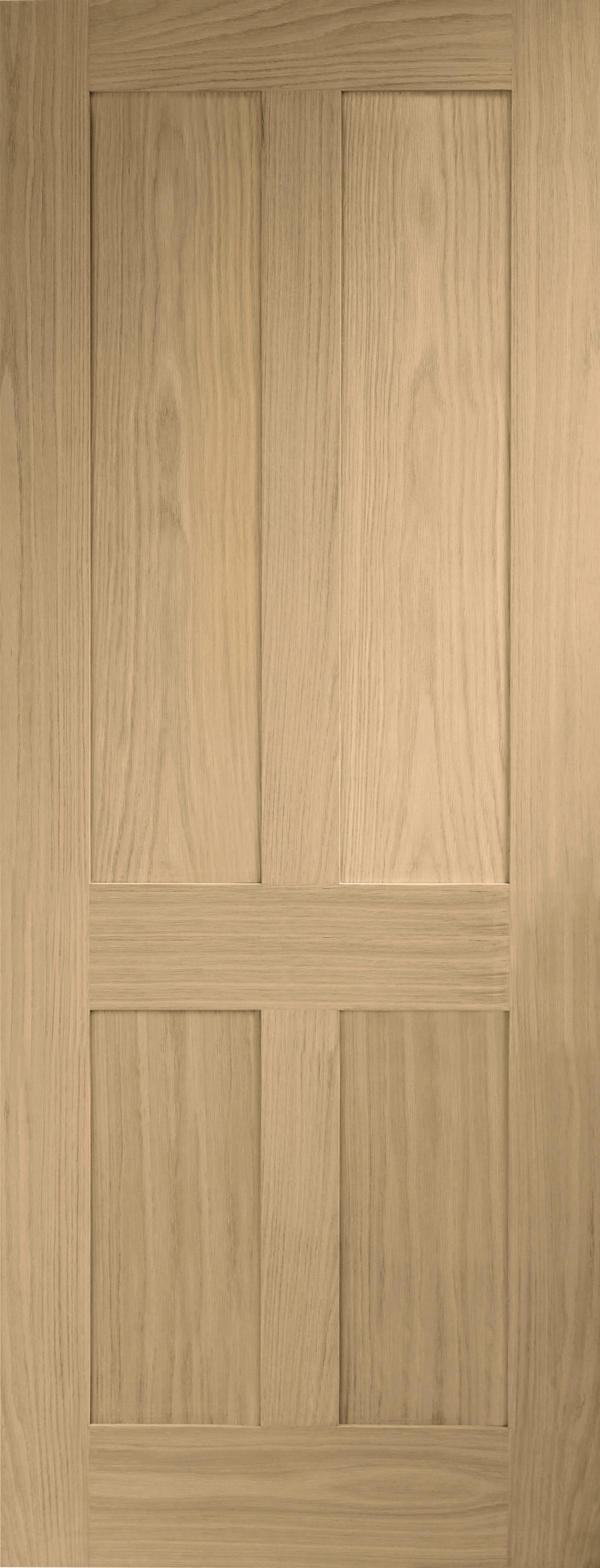 Victorian Oak Shaker 4 Panel Door