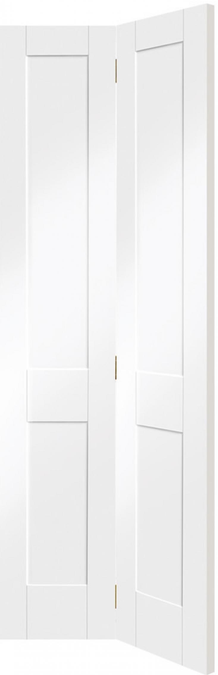 Victorian Shaker White Bifold Door