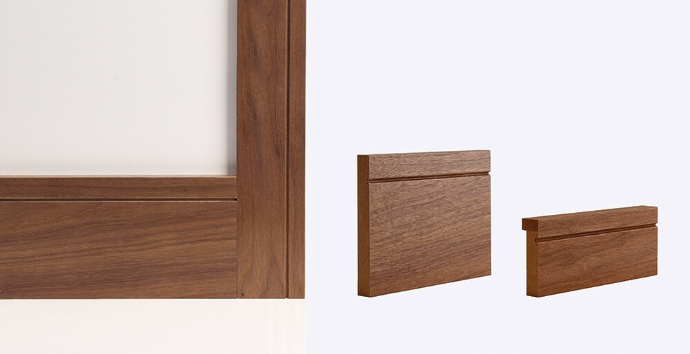 Walnut Shaker Door Lining Skirting & Architrave: Solid FSC Certified MDF core Image