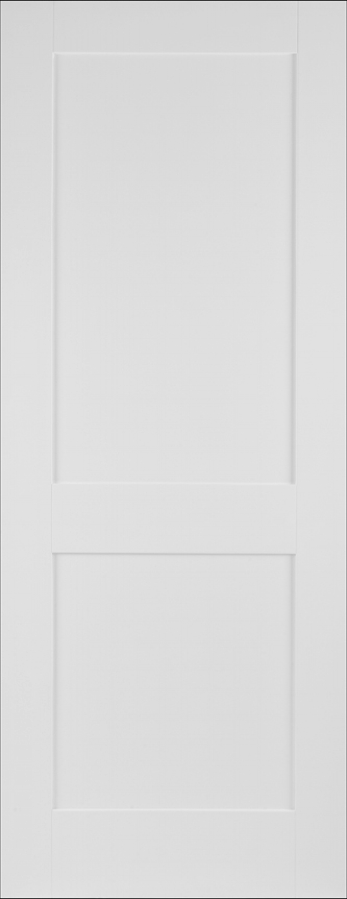 White Shaker 2 Panel