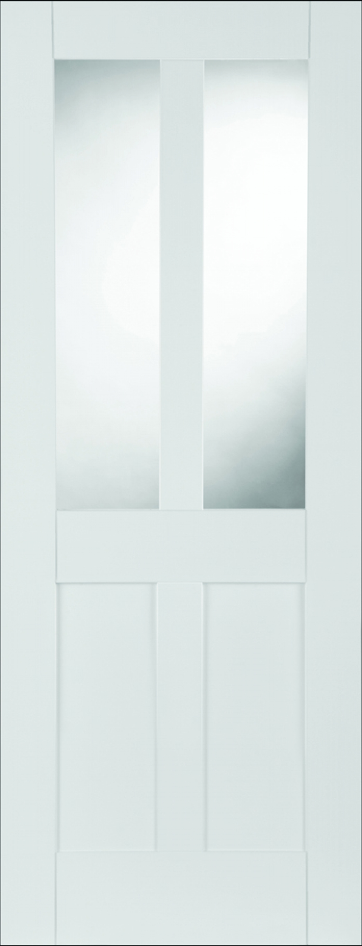 White Shaker 2 Panel 2 Light