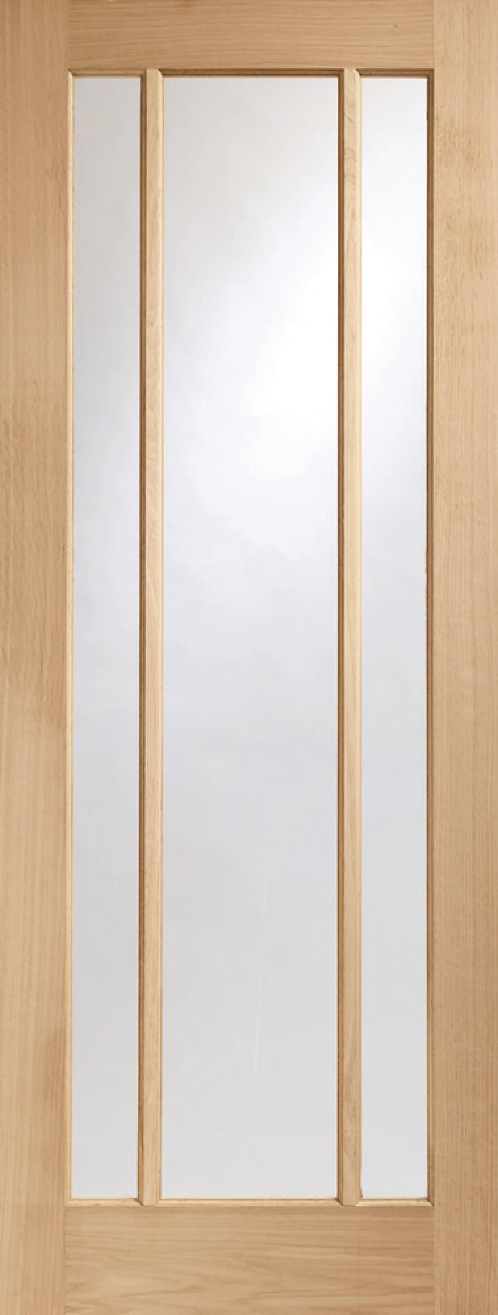 Worcester Oak Glazed Door - PREFINISHED