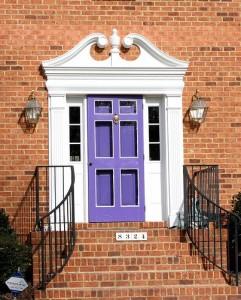 Purple painted front door
