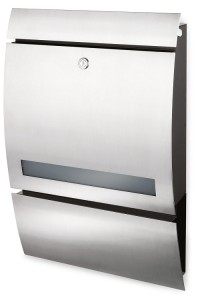 Sleek lockable letterbox
