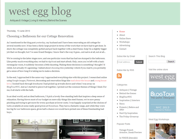 west egg interiors