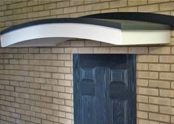 Arched door canopy & 5 of the Best Door Canopies \u2013 Vibrant Doors Blog