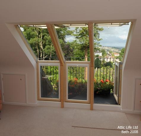 Loft conversion with a balcony