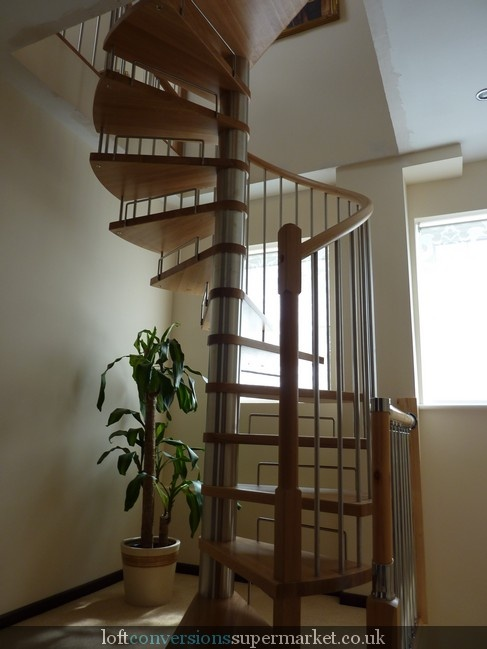 Stylish loft conversion staircase