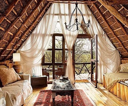 Rustic roof loft conversion